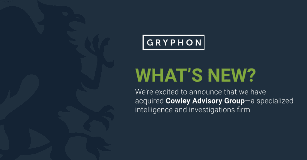 Gryphon Strategies acquires Cowley Advisory Group