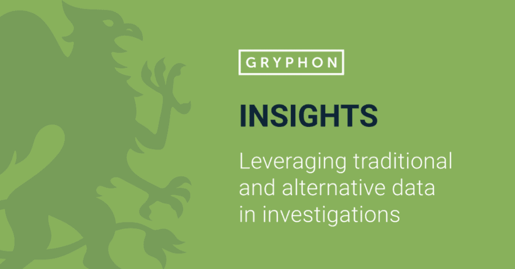 Leveraging traditional and alternative data in investigations