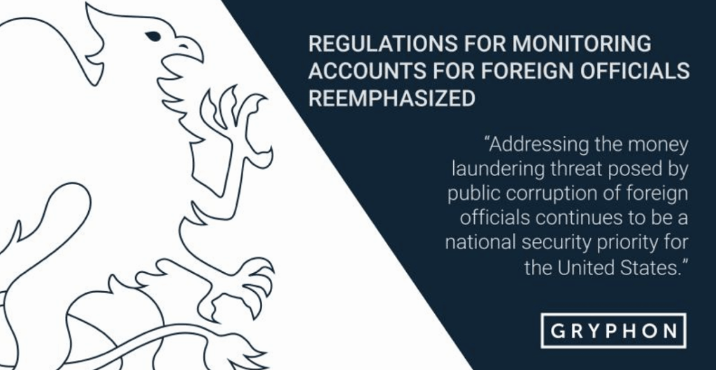 Regulations for monitoring accounts for foreign official reemphasized